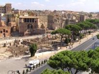 Ausblick auf Piazza Foro Traiano