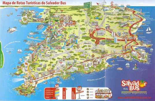 Sightseeing Map Salvador