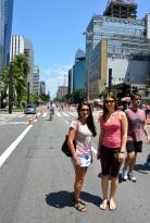 Brazil (2) Sao Paulo Avenida Paulista free of traffic