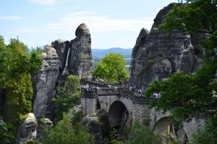Basteibruecke Elbsandsteingebirge Sachsen (24)